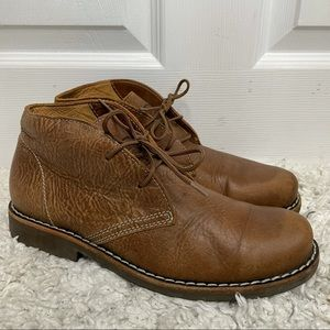 Roots Brown Leather Lace Up Shoes